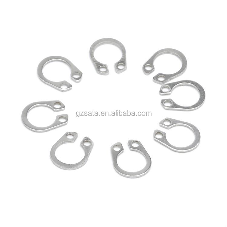 Stamped DSH-085 Standard Duty Spring Steel DIN 471 85mm External Snap Ring Pkg of 4