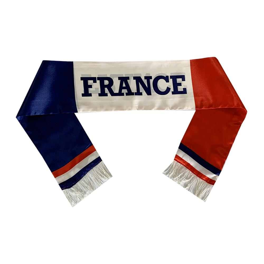 custom design logo printed fans world cup made silk no minimum football <strong>scarf</strong>