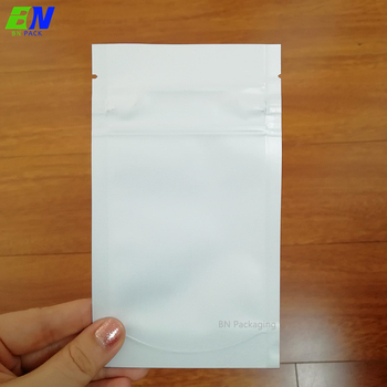 High quality recycle packaging foil 3 side seal zipper clear plastic bag for mask