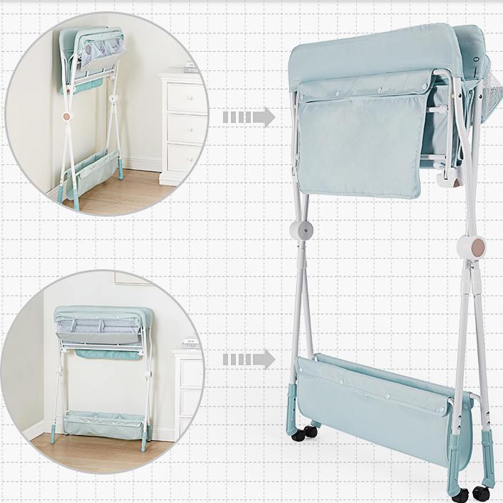 KUB infant foldable diaper table with wheels and storage baby changing table