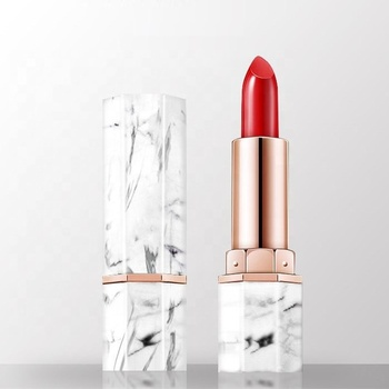Private label Good Quality Marble Shape Lipstick Tube Waterproof Lipstick OEM Vegan Matte Red Lipstick