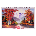 Popular fashion DIY landscape painting custom paper puzzle jigsaw educational toys gift