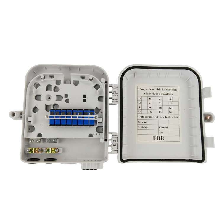 Manufacturing FTTH cable box FDB fiber optic terminal box 8 core