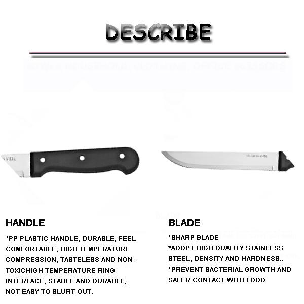 Medium stainless steel sharp-edged cake/fruit/kitchen knife