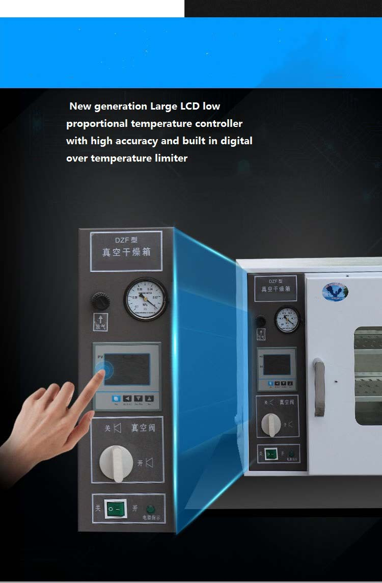 Hot Sale High Efficiency Laboratory Stainless Steel Vacuum Drying Oven