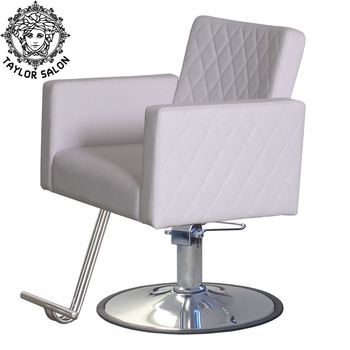 white hair salon styling chair hairdressing chair with reclining