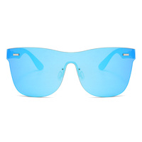 Superhot Eyewear 11361 UV400 Rimless Mirrored One Piece Lens Sunglasses