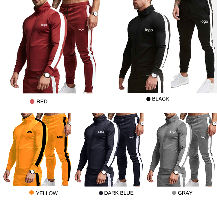 Custom Wholesale Plain Workout Crew Neck Sweat Suit High Quality Tracksuit Streetwear Mens Sweatsuit