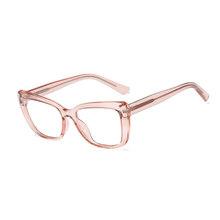 SO & EI винтажные женские очки в оправе кошачий глаз TR90 весенние шарнирные оправы из нержавеющей стали мужские Оптические очки для близорукос...(Китай)