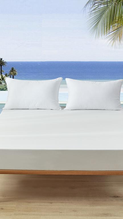 100% पॉलिएस्टर ठंडा गिर गया गद्दे रक्षक निविड़ अंधकार बिस्तर कवर के लिए अनुकूल गर्मी/गर्म मौसम