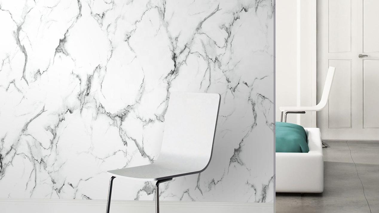 YKNU 5 Новые Современные Настенные обои для домашнего украшения текстурированные обои с принтом в виде белого и синего цвета белый мрамор обои дизайн мрамор виниловые обои
