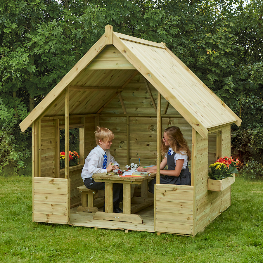 Role Play House Children Wooden Toy Playhouse Outdoor Kids Children Playhouse Kids Outdoor Playground