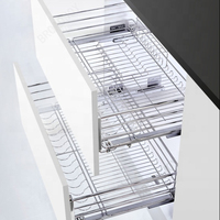 Stainless steel drawer kitchen basket pull out storage basket