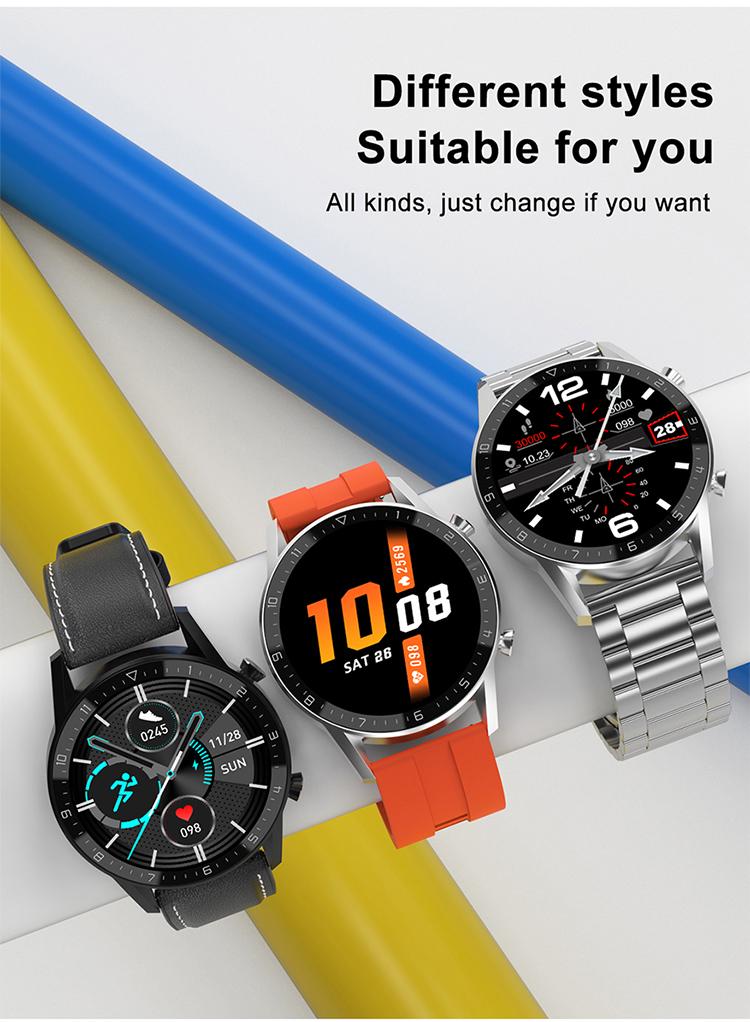 Metal straps Men style IP68 Waterproof Smart Watch DT92 smartwatch