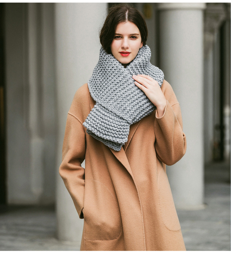 N119 New Custom Thick grid scarf wool scarf Autumn Winter Warm Knitted Scarves for men women