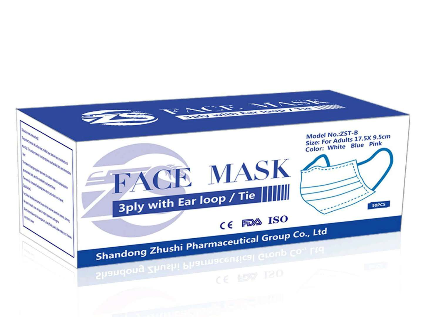 50 Disposable Face Masks Surgical Medical Quality 3-Ply New