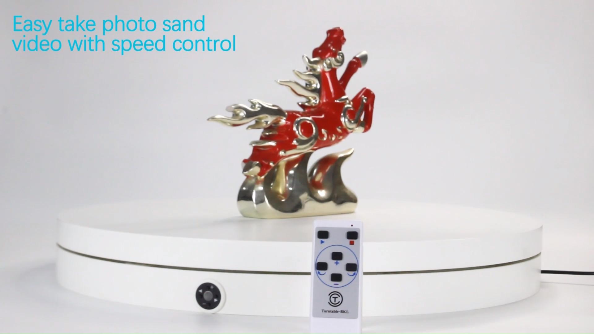 """ターンテーブル-bkl 60 センチメートル 24 """"リモコンターンテーブル製品 360 回転電機写真撮影ディスプレイスタンド"""