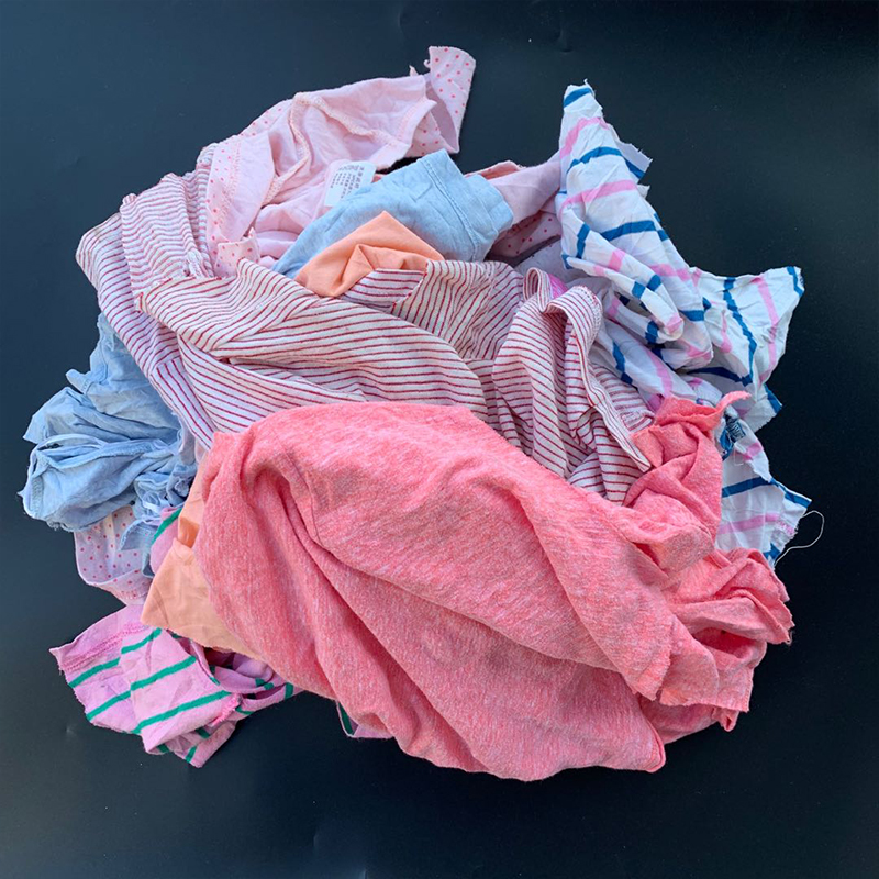 Customized Bleaching Industrial Rags Clothing For Machine Wiping