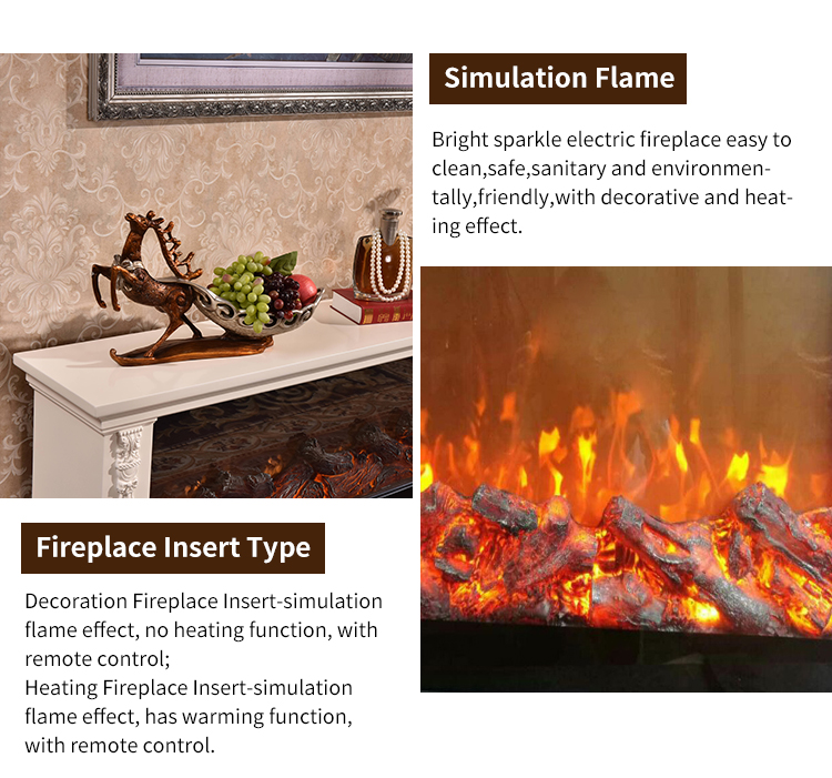 Simplicity fashion electrical fireplaces with romantic flame