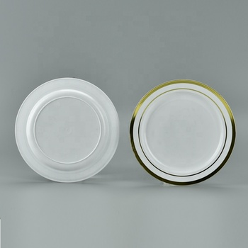Premium Wedding party eco-friendly disposable reusable plastic plate