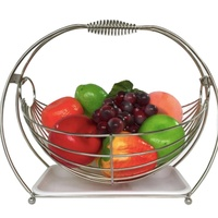 Home Decorative Large Size Stainless Steelmetal iron Fruit Storage Basket