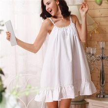 2020 ночная рубашка для женщин, ночная рубашка из хлопка, Сексуальная Домашняя одежда, домашняя одежда, белая, розовая сорочка, ночная рубашка ...(Китай)
