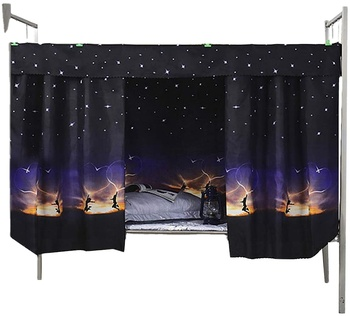 Bedding Set with Matching curtains Bed Room Curtains Breathable Canopy Bed Curtain