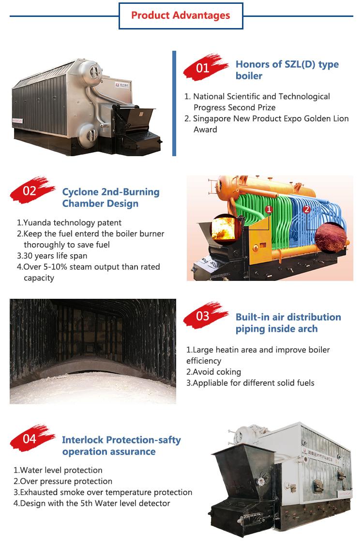 Beste prijs hot selling paddy rijstschil gestookte stoomketel machine