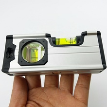 Amazon Hot  5-inch Aluminum Magnetic Mini Spirit Level With Metal Hook And Keychain