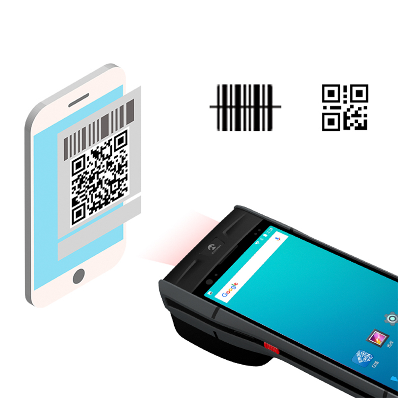 Blovedream S60 Handheld Wireless Rugged Pda Android POS with QR Code Barcode Scanner 4G LTE Wifi Thermal Printer POS System