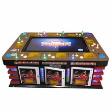 8 Speler 55 Inch Coin Operated Fish Game Kast Vissen Game Machine Met Muntvangers Coin Hopper