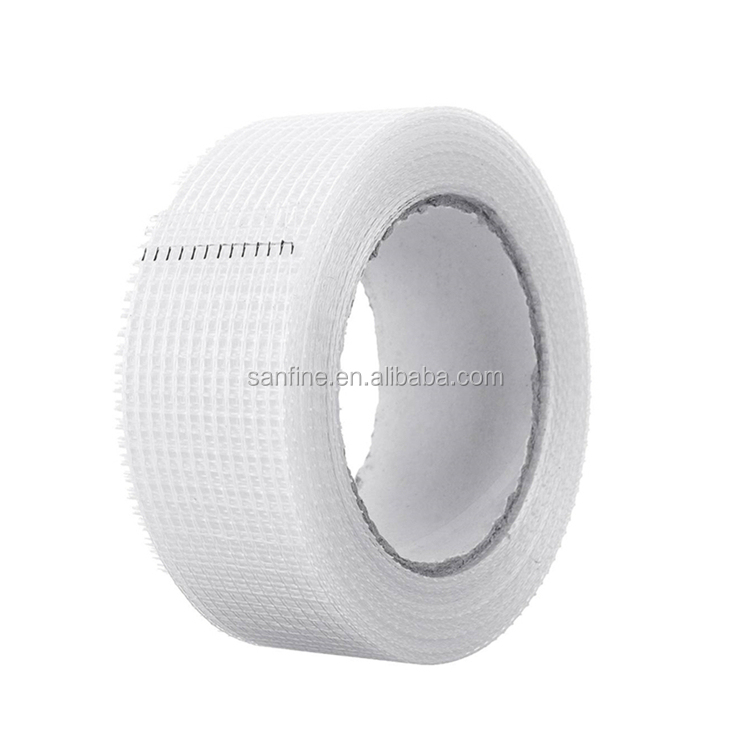 "4 Rolls 65 FT x 2/"" Self Adhesive Fiberglass Cloth Tape White Mesh for Drywall"
