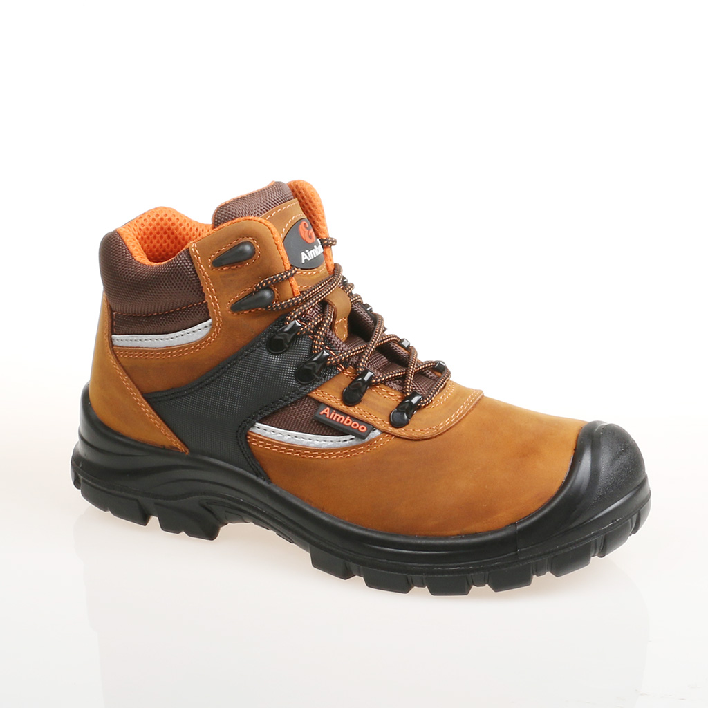 Aimboo 2020 huaerxin factory construction safety boots steel toe safety footwear nubuck safety shoes for workers