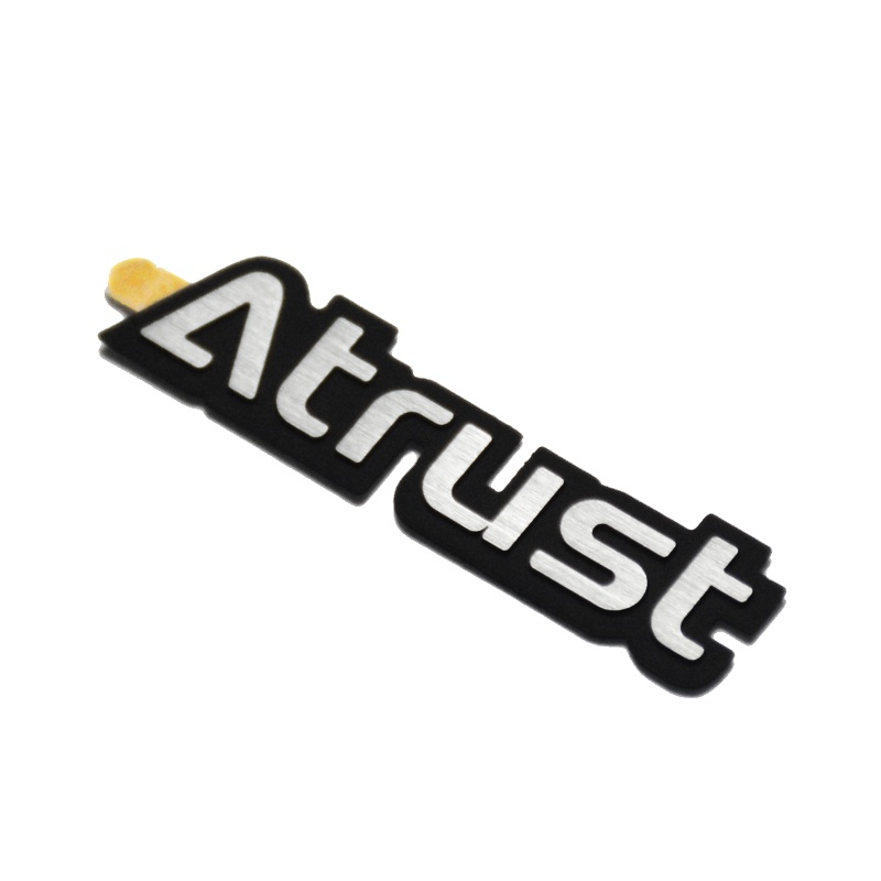 3D metal electroform nickel transfer foil stickers with strong 3M adhesive