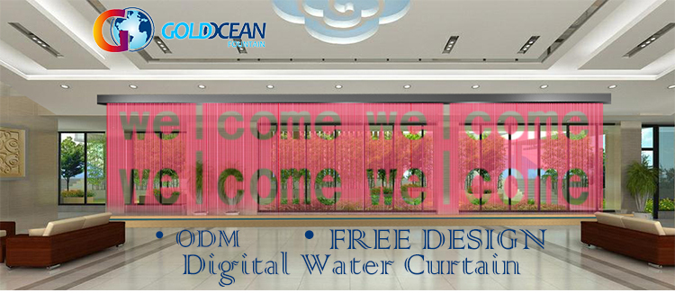 FREE DESIGN Outdoor artificial graphical digital water curtain