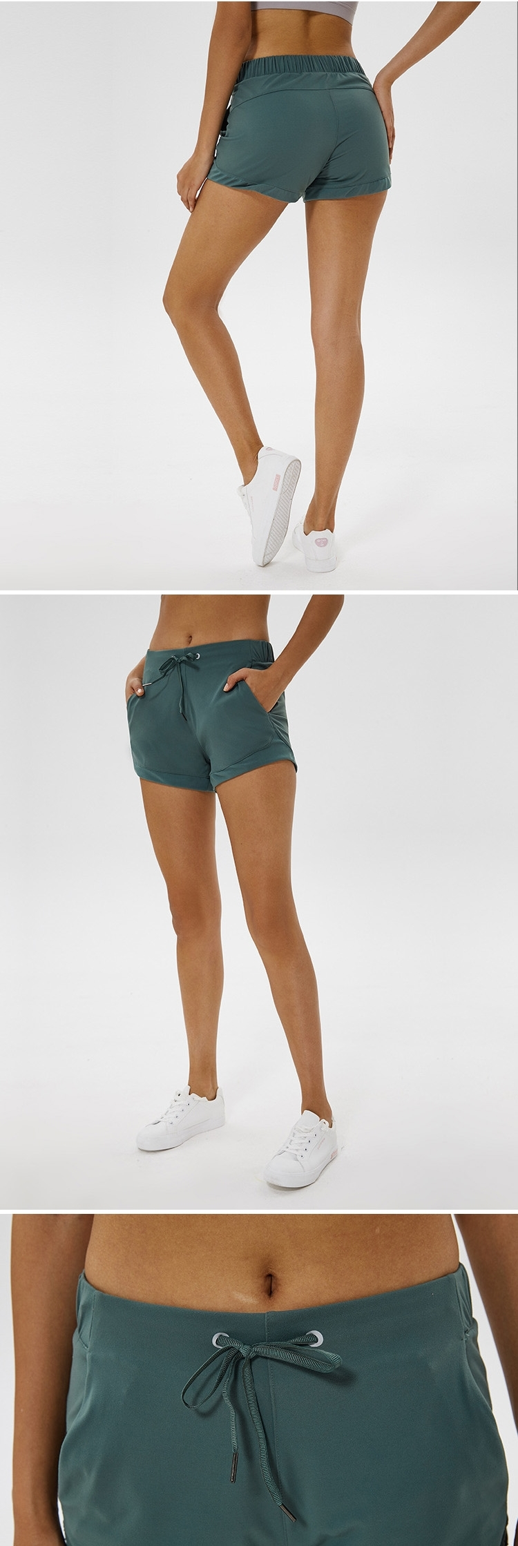 KCOA Factory price stock loose fitness women yoga running workout shorts with pocket