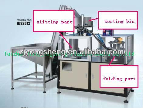 Cap closure slitting machine