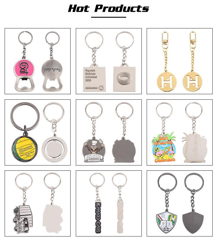 Custom zinc alloy brass hygiene hand antimicrobial door no touch door opener tool key chain