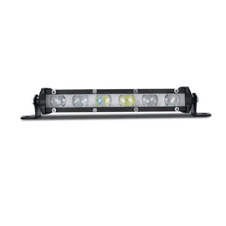 18W 6D LED Light Bar 7 Inch Truck Vehicle Slim Driving Light Bar Spotlight