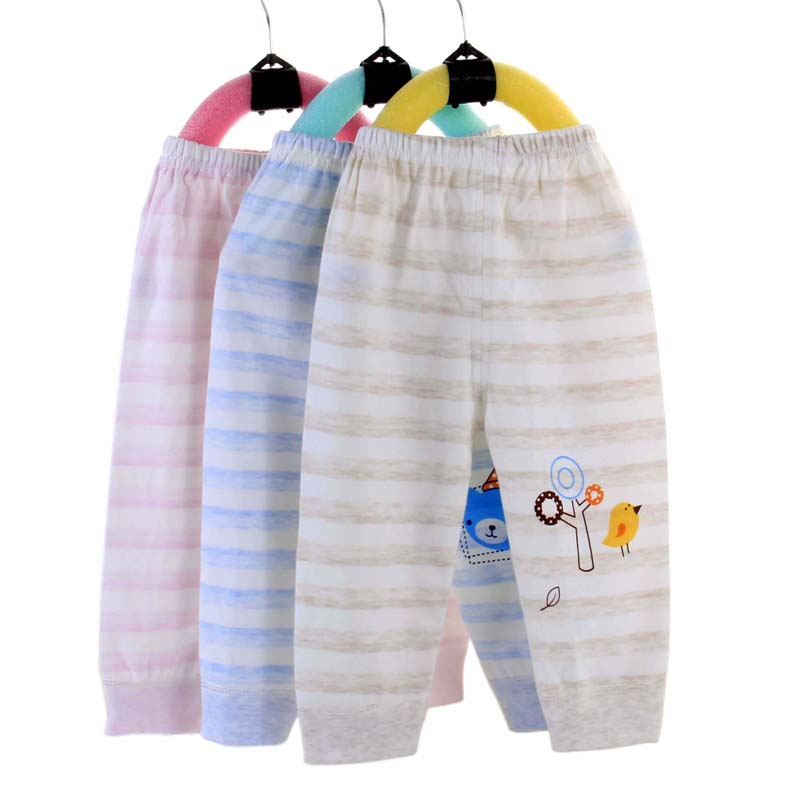 2020 new design spring and autumn clothing 0-3 years old organic cotton baby men's wear women's Hougong pants