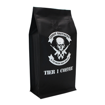 Bottom Brown Kraft Paper Tea Food Grade Bags Beans Stand Up Beautiful Coffee Packaging Bag And Pouch