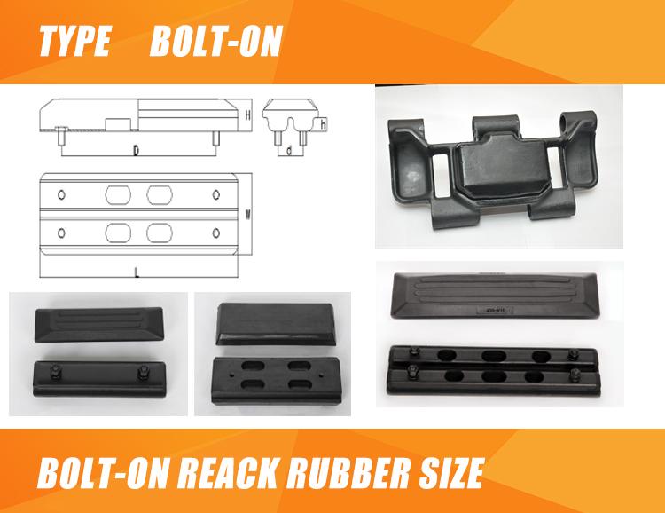 Mini bagger gummi track ersatzteile gummi track für EX60-5