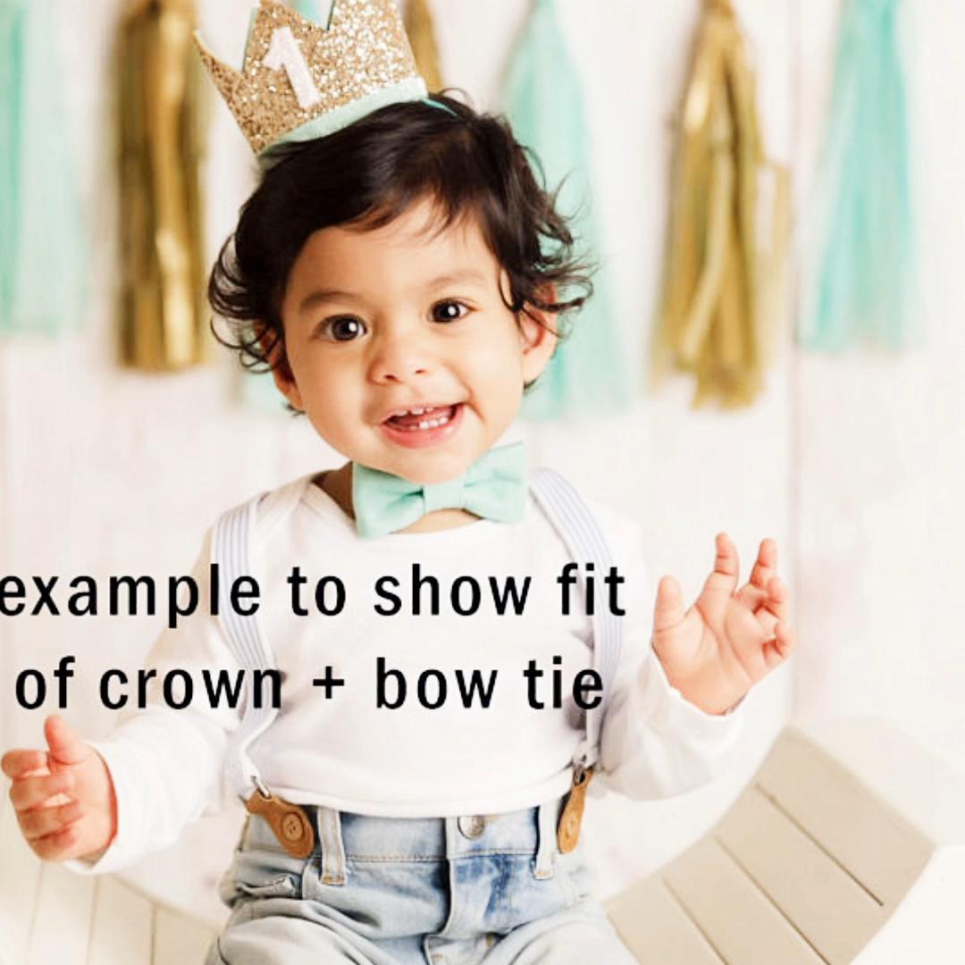 Couronne pour bébé de 16 pouces en matériel brillant, bandeau de cheveux élastique pour fête d'anniversaire, accessoires cheveux, décoration pour premier anniversaire