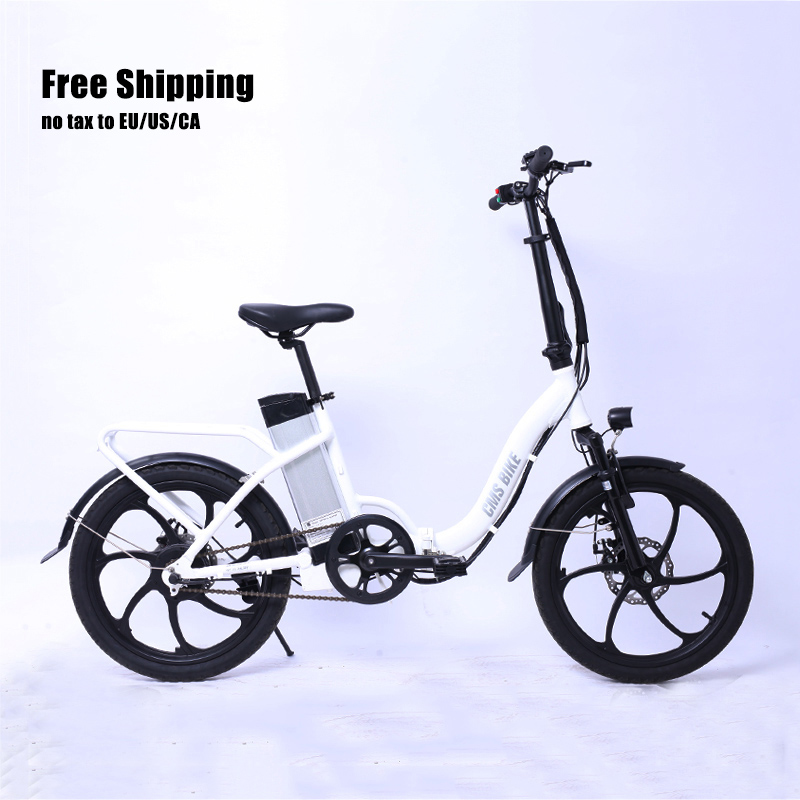 20 inch ebike aluminum alloy <strong>folding</strong> e bike 250w electric <strong>folding</strong> bicycle with rear carrier