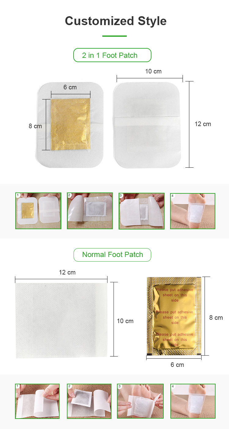Hot selling products bamboo vinegar foot sheet pads slimming detox foot patch manufacturer