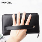 Fashion travel long wallet, genuine leather wallet clutch bag, New design fashion travel passport document leather wallet