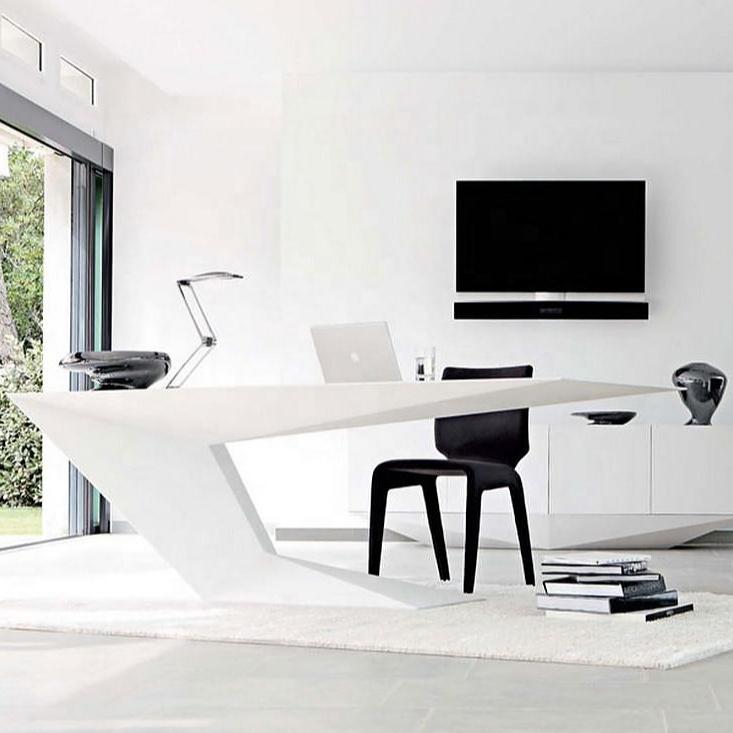 Современный уникальный дизайн офисного стола руководителя