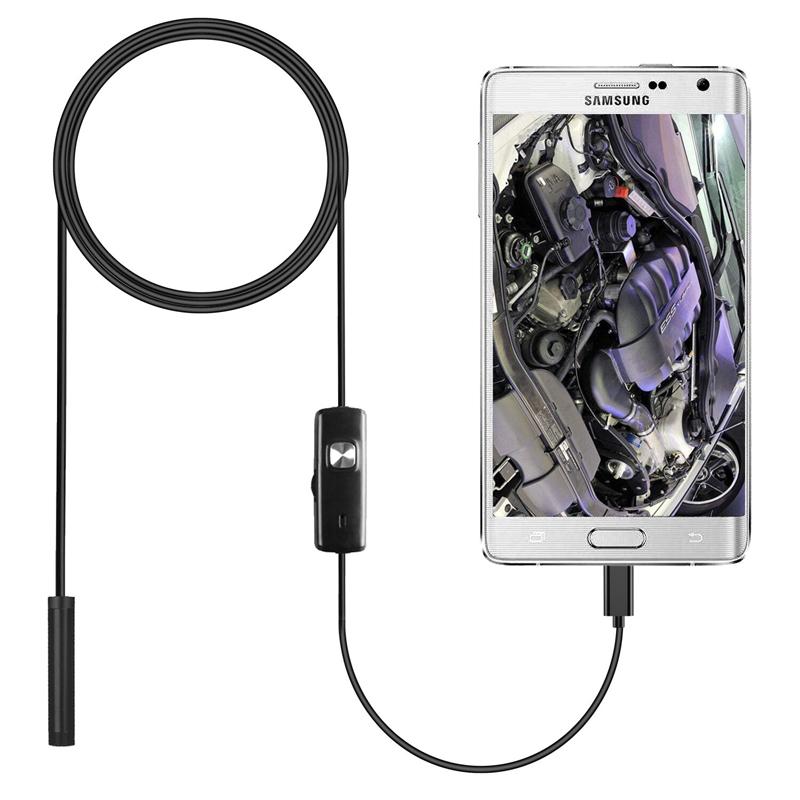 Loại C USB Mini Nội Soi Máy Ảnh 7 Mm 2 M 1 M 1.5 M Linh Hoạt Cứng Điều Khiển Cáp Rắn Borescope kiểm Tra Đối Với Android Điện Thoại Thông Minh PC