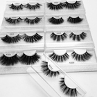 False Eyelashes Eyelash Brand Wholesale Fluffy 25MM False Mink Eyelashes Synthetic 5 Pack Eyelash Vendor With Customtic Brand