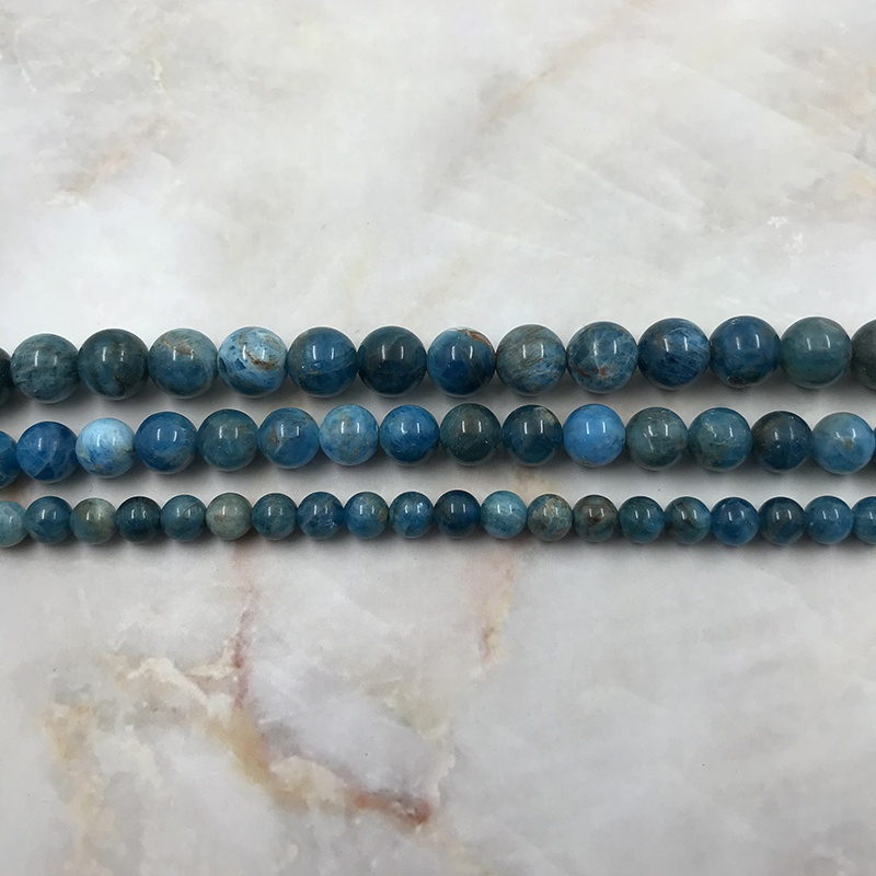 High grade natural mineral 10mm blue Apatite semi-precious stone gemstone loose beads for jewelry making